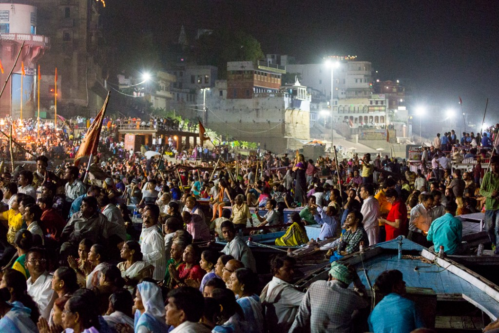 Crowds gather for Ganga Arati in Varanasi. October 4, 2016 ©robertmoses