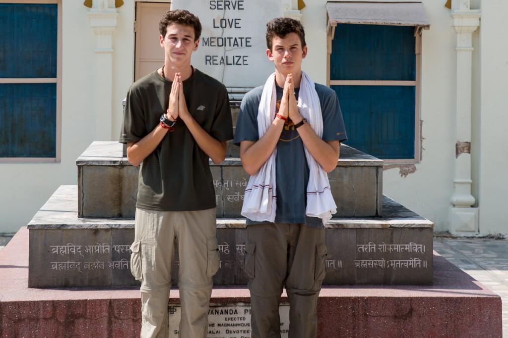 Joseph Bernstein and Tejas Moses. Divine Life Society, Rishikesh. October 2015. ©robertmoses