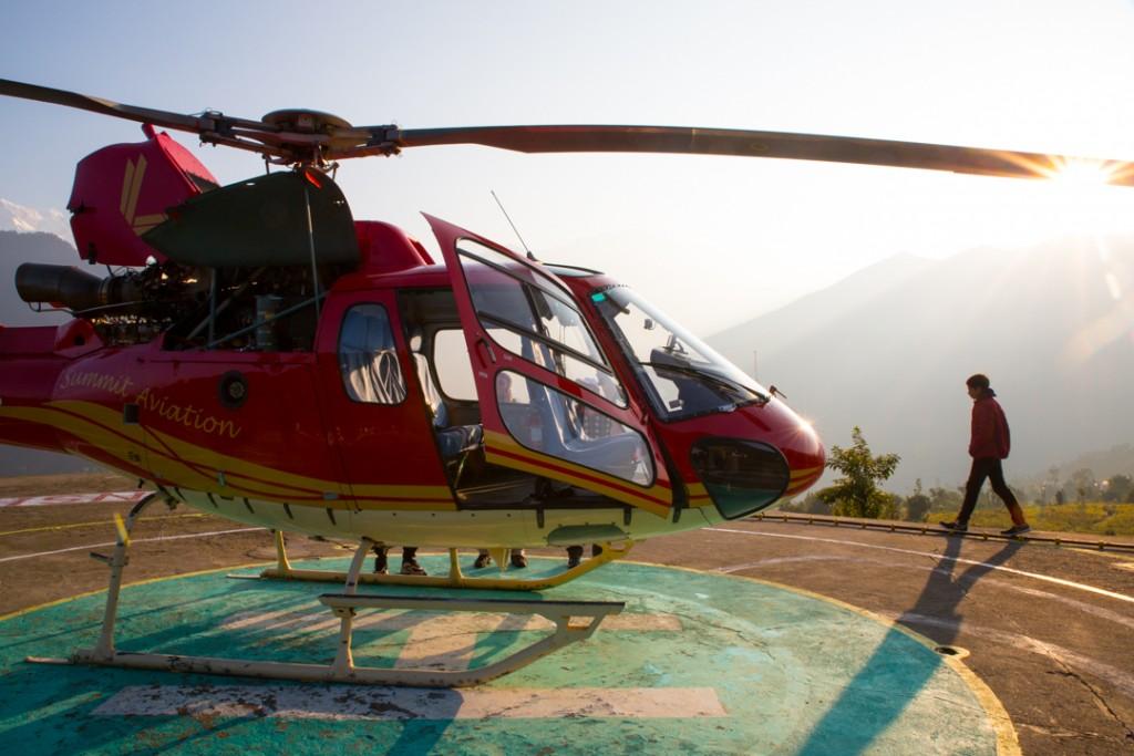 Chopper basking in early morning sunshine. Chard Dham Camp, Guptakashi. October 2015 ©robertmoses