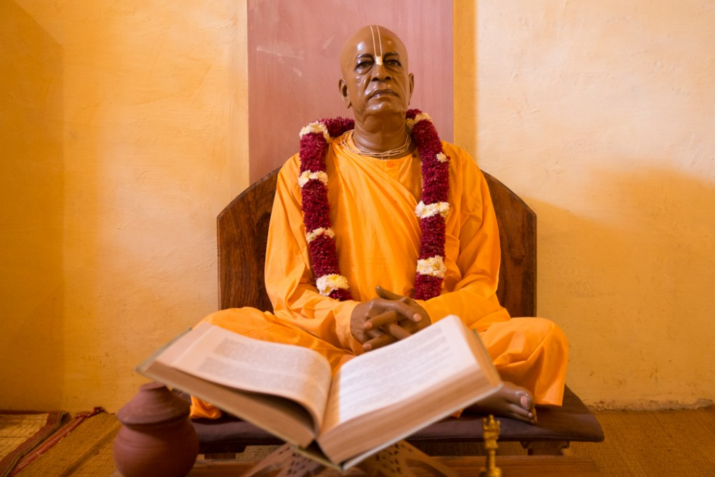 His Divine Grace Srila Prabupada in His recreated room. December 2015. ©robertmoses
