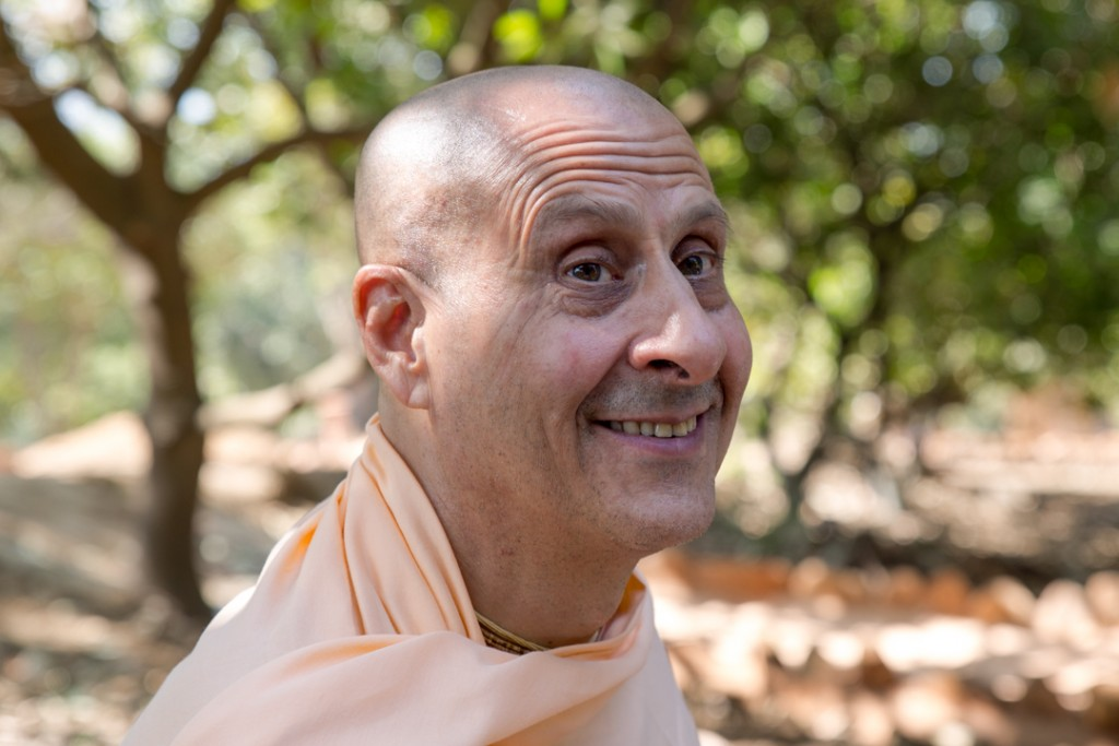H.H. Sri Radanath Swami known affectionally  as Maharaj. Guiding light of Govardhan Ecovillage. December 2015 ©robertmoses