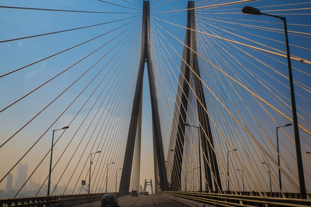 Bandra-Worli Sealink over Mahim Bay, Mumbai. December 2015. ©robertmoses