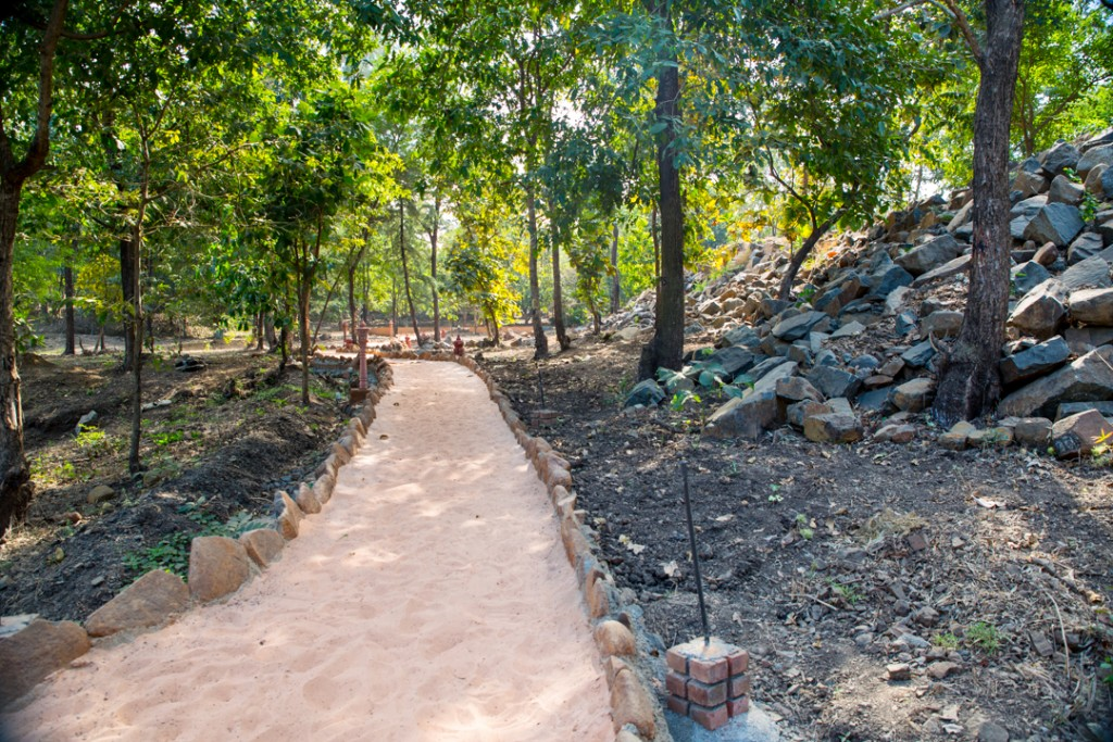Pradikshina path around Govardhan Mountain. December 2015. ©robertmoses