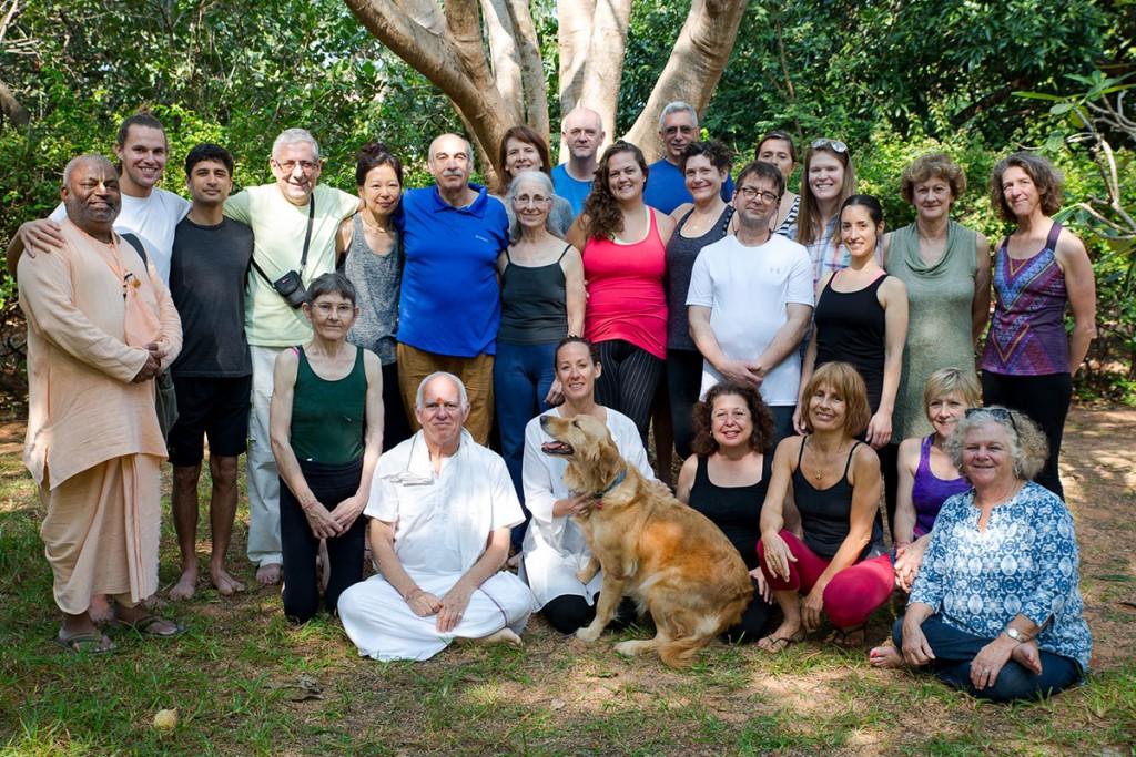 Tamil Temple Yatra group at Monica Marinoni's Ashtanga Yoga Auroville. January 12, 2016. ©robertmoses