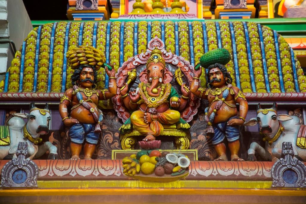 Lord Ganesha and attendants.  January 12, 2016. ©robertmoses