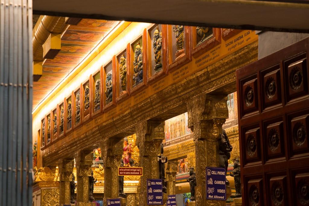 Many Ganesha's from around the world adorn the walls.  January 12, 2016. ©robertmoses
