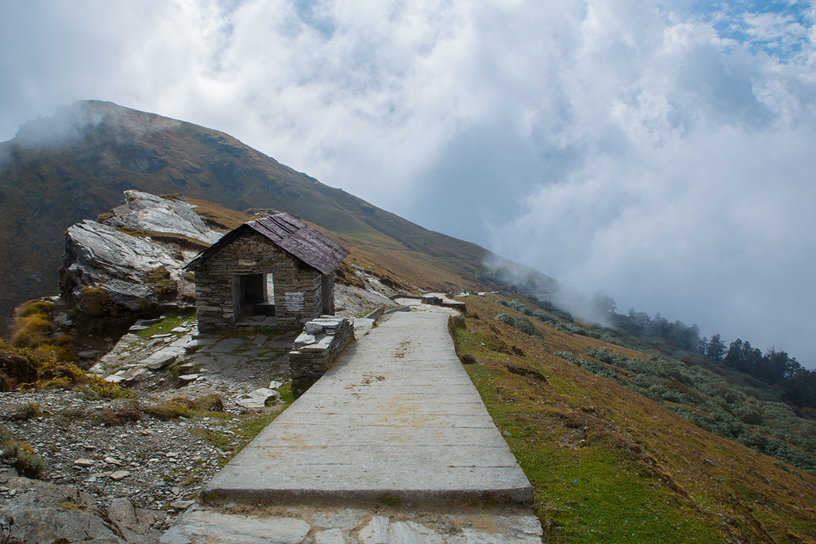 Resthouse on the pathway to Tungnath, the highest Lord Siva temple in the world. October 2015©robertmoses