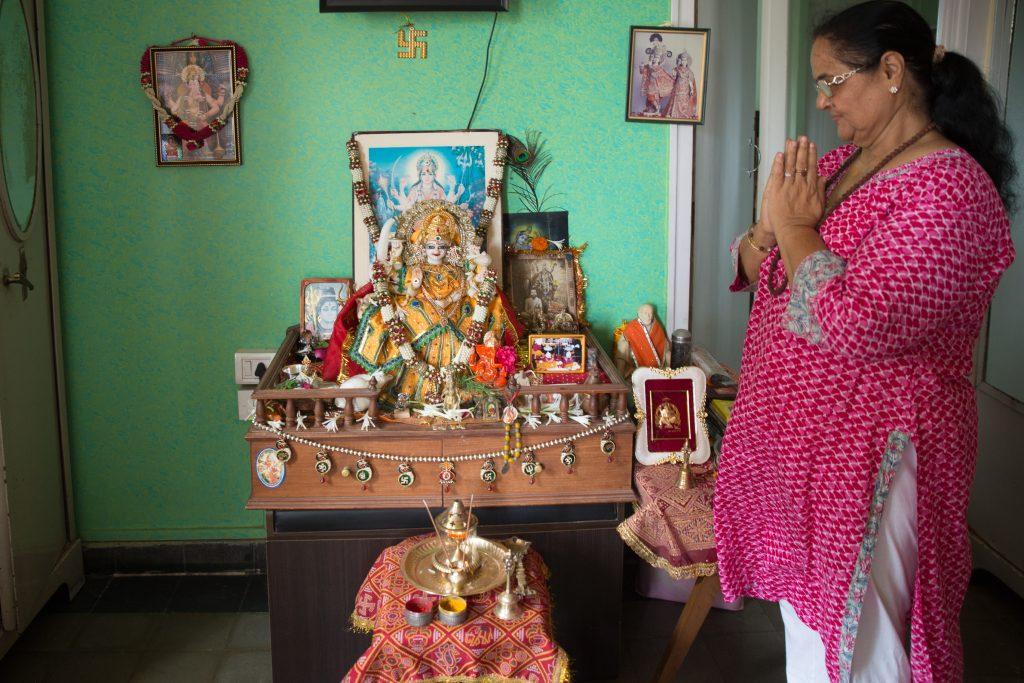 Ahalya Shetty honors her Divine Mother at her apartment in Tardeo, Mumbai. ©robertmoses