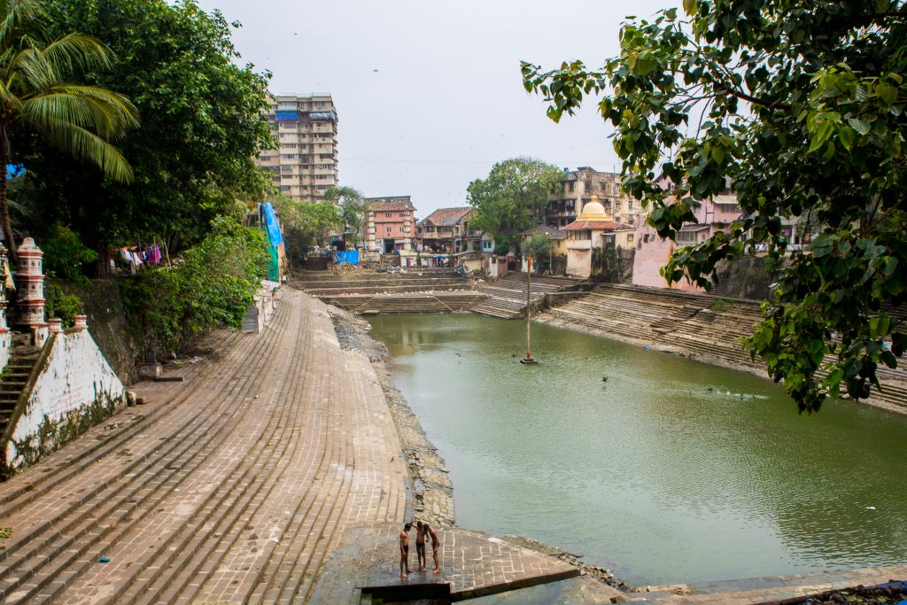 BaanGanga, Mumbai. During the TretaYuga Lakshmana shot an arrow into the earth here and the Ganga sprang forth so that Lord Rama could quench his thirst. ©robertmoses