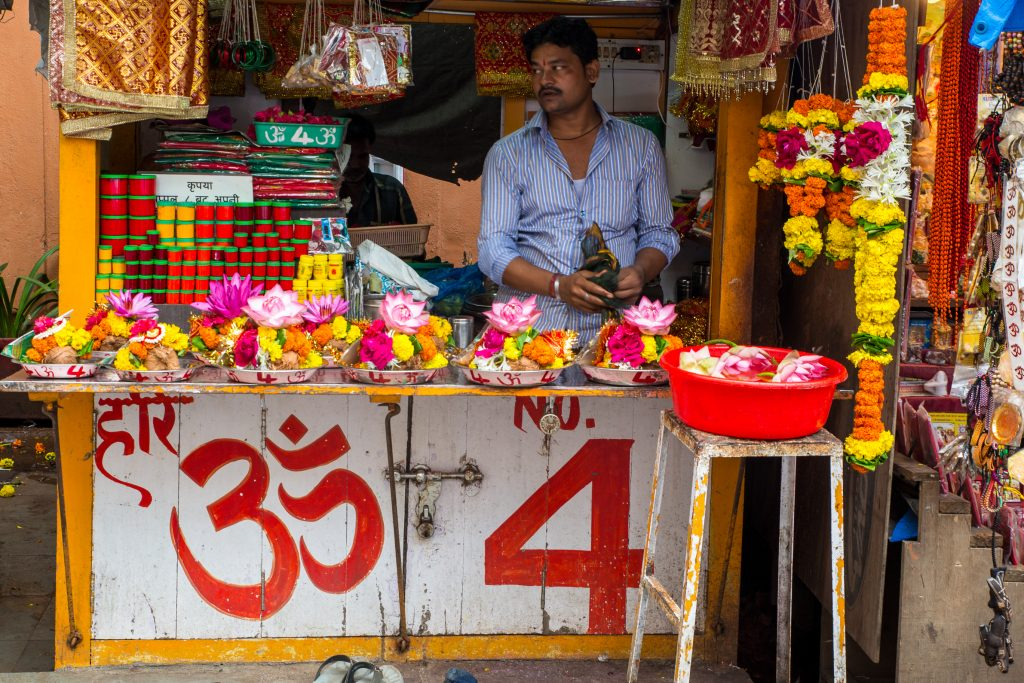 Flower seller No. 4 at Mahalakshmi Mandir, Mumbai. ©robertmoses