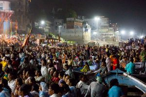Crowds gather for Ganga Arati in Varanasi. October 4, 2016 ©robertmoses