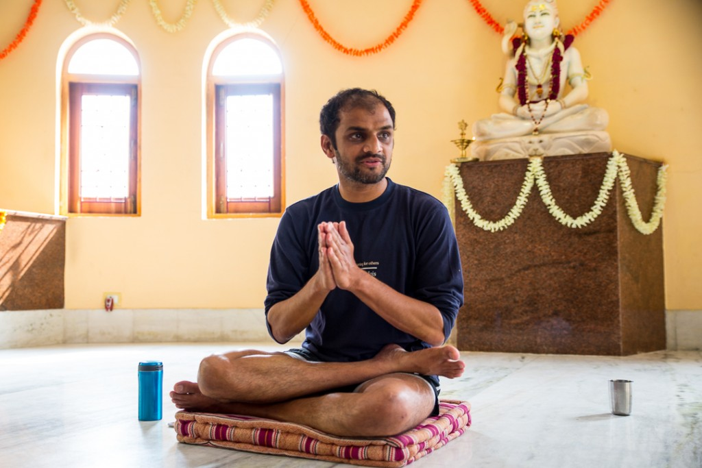 Mahayogi R. Sharath Jois at Tapovan Kuti, Uttarkashi, Uttarakhand, Himalayas. Conference during the Ashtanga Yoga Sadhana Retreat. October 14, 2015. ©robertmoses