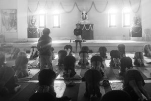 Class at Tapovan Kuti, Uttarkashi, Uttarakhand, Himalayas. October 14, 2015. ©robertmoses