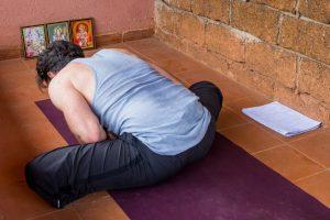 Baddhakonasana during self practice on the balcony. ©robertmoses