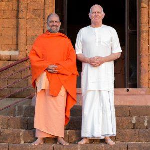 Swami Govindanandaji and Robert Moses.