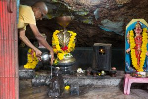 Gopal bathes Nandi. ©robert moses