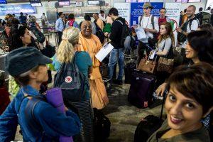 All aboard the Narmada Yatra at Delhi Domestic Terminal. ©robertmoses